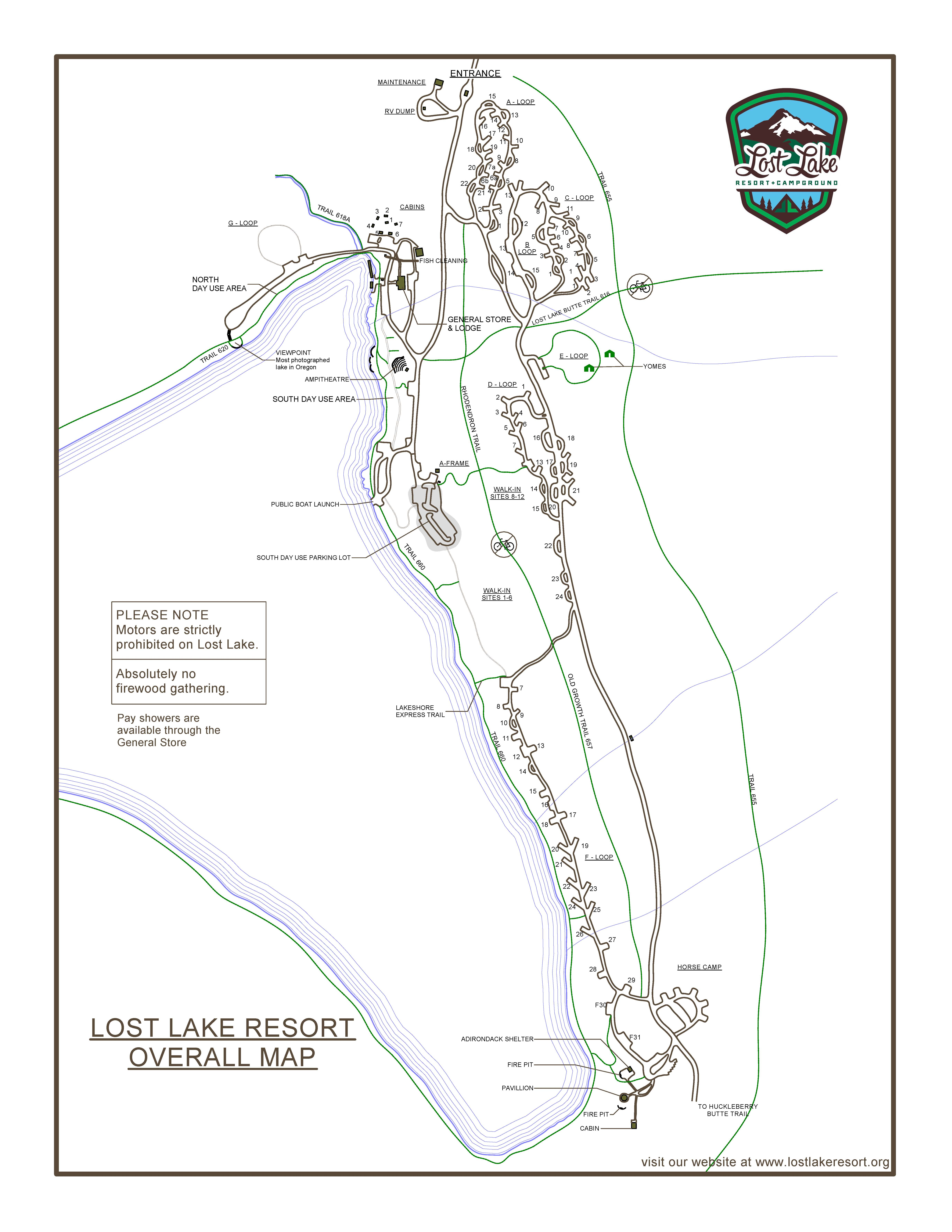 Lost Lake Campground Map Maps Lost Lake Oregon